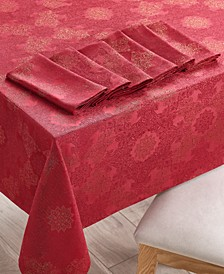 "Holiday Dining Set with 84"" Tablecloth & 6 Napkins, Created for Macy's"