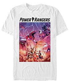 Men's Power Rangers Lightning Bolt Poster Short Sleeve T-Shirt