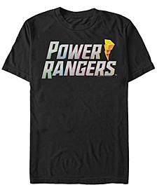 Men's Power Rangers Rainbow Text Logo Short Sleeve T-Shirt