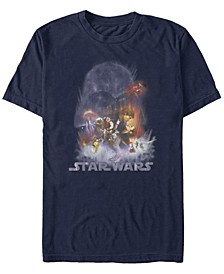 Men's Star Wars Empire Strikes Back Darth Vader Cloud Short Sleeve T-Shirt