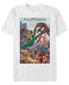 Men's Power Rangers Battle Poster Short Sleeve T-Shirt