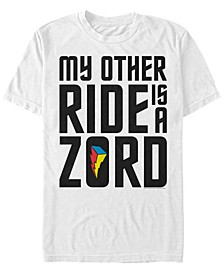 Men's Power Rangers My Other Ride Is A Zord Short Sleeve T-Shirt