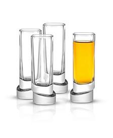 Aqua Vitae Off Base Square Shot Glasses, Set of 4