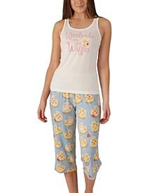 Waffles Tank & Capri Pajama Set, Online Only