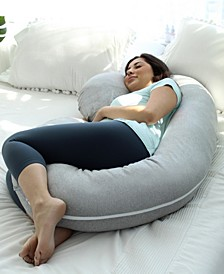Pregnancy C Shaped Full Body Pillow with Jersey Cover