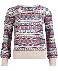 Poplars Printed Knit Sweater