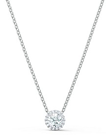 """Silver-Tone Crystal Pendant Necklace, 14-7/8"""" + 2"""" extender"""