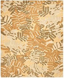 Palm Leaf MSR4548A Brown 4' x 6' Area Rug