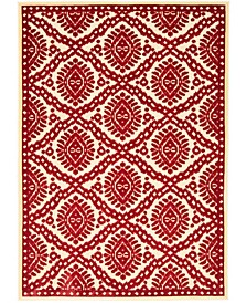 "MSR4443 Red 2'7"" x 4' Area Rug"