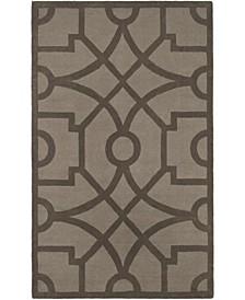 Fretwork MSR4612A Gray 9' x 12' Area Rug