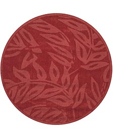 Breeze MSR4621B Burgundy 4' x 4' Round Area Rug