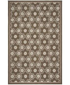 "Puzzle MSR2327A Brown 8'6"" x 11'6"" Area Rug"