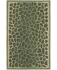 "Arusha MSR3615A Green 2'6"" x 4'3"" Area Rug"
