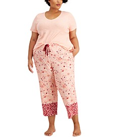 Plus Size Cotton Capri Pajama Pants, Created for Macy's