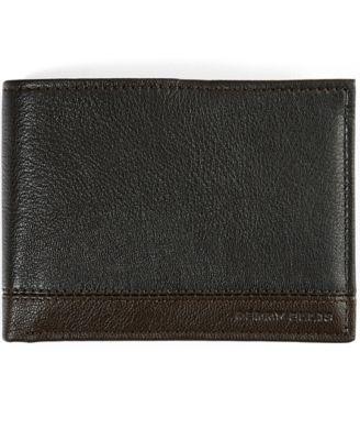 Perry Ellis Men's Colorblocked Leather Passcase Wallet
