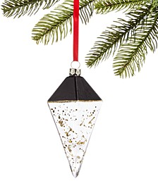 Black Tie,  Glass Diamond Drop Ornament, Created for Macy's