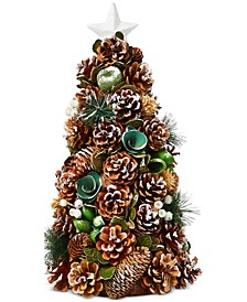 Birds & Boughs Pine Cone Tabletop Decor Tree, Created for Macy's