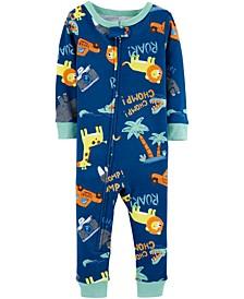 Baby Boys Safari-Print Cotton Pajamas
