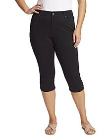 Women's Plus Size Comfort Curvy Capri