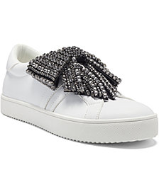 I.N.C. Women's Danelia Rhinestone Bow Lace-Up Sneakers, Created for Macy's