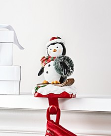 Christmas Cheer Penguin Stocking Holder, Created for Macy's