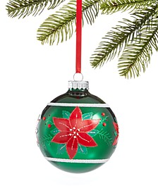 Christmas Cheer Ball Pointsettia Ornament, Created for Macy's