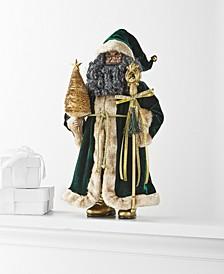 "Evergreen Dreams African American 18"" Velvet-Clad Santa, Created for Macy's"