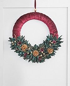 Evergreen Dreams Floral Leaf Wreath, Created for Macy's