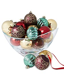 Evergreen Dreams Shatterproof Ornaments, Set of 30, Created for Macy's