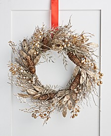 Gilded Age Metallic Berry & Branch Wreath, Created for Macy's