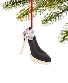 Fashion Week, Black High Heel Ornament, Created for Macy's