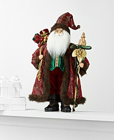 Standing Santa with Staff & Gift Bag, Created for Macy's