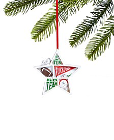 Sports Star Shaped Football Ornament, Created for Macy's