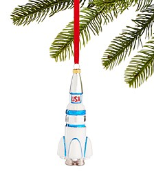 Spaced Out Glass USA Rocket Ornament, Created for Macy's