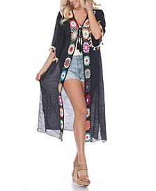 Women's Crochet Kimono Cover-Up