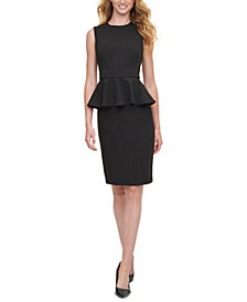 Calvin Klein Peplum Sheath Dress