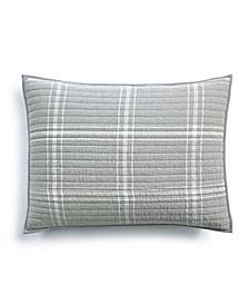 Heather Plaid Flannel Quilted Standard Sham, Created for Macy's