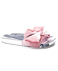 Morissey Velvet Bow Detail Women's Poolslide Sandal