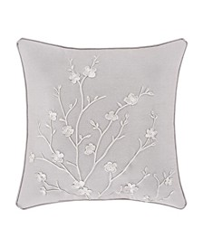 """Cherry Blossom 20"""" Square Decorative Throw Pillow"""
