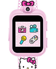 Kid's Hello Kitty PlayZoom Blush Polka Dot TPU Strap Touchscreen Smart Watch 52x42mm