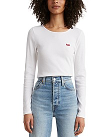 Honey Long-Sleeve Rib-Knit T-Shirt