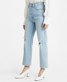 Ribcage Straight-Leg Ankle Jeans