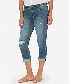 Amy Cropped Straight-Leg Destructed Jeans