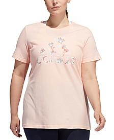 Plus Size Inclusive Floral-Print Logo T-Shirt