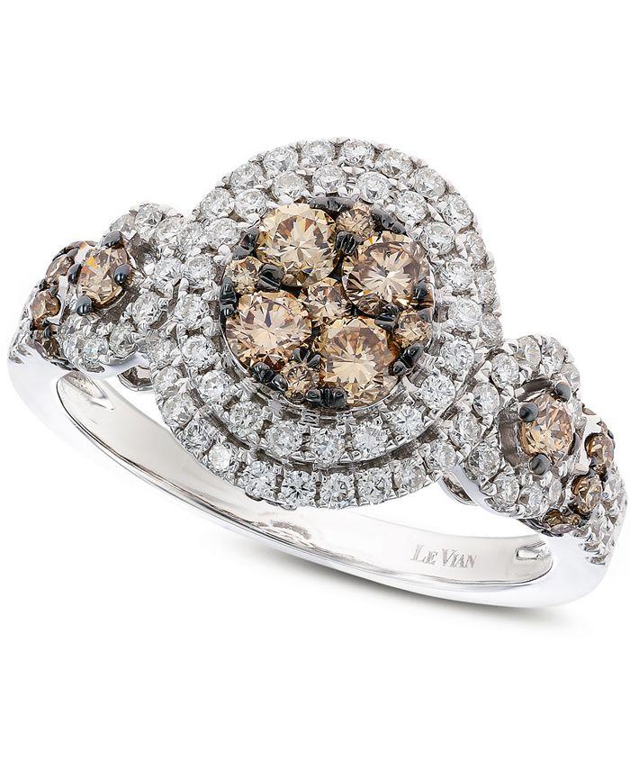 Le Vian - Diamond Double Halo Ring (1-1/4 ct. t.w.) in 14k White Gold