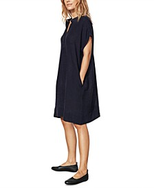 Organic Linen Shift Dress, Regular & Petite