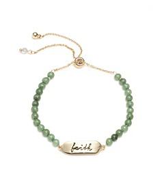 Faith Beaded Slider Bracelet