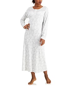 Cotton Brushed Knit Printed Nightgown, Created for Macy's
