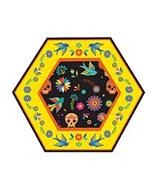 Day Of Dead Salad Plate, Pack Of 16