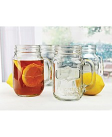 Yorkshire Mason Jar Mugs, Set of 4